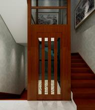 Classic mahogany home elevator for 6 person
