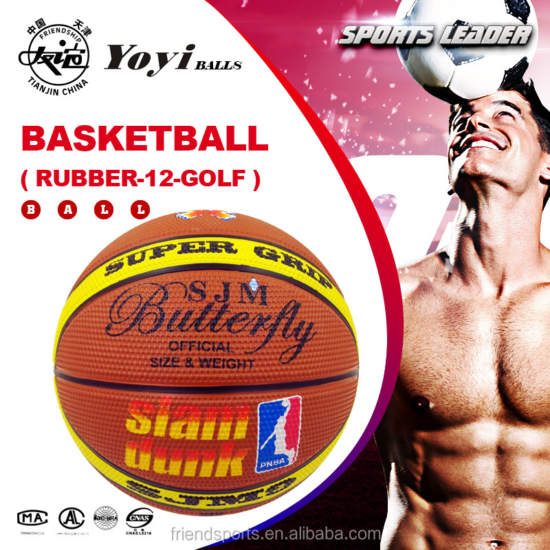 supply for philippine market high quality rubber basketball 12 panel shape with super grip touch GOLF body