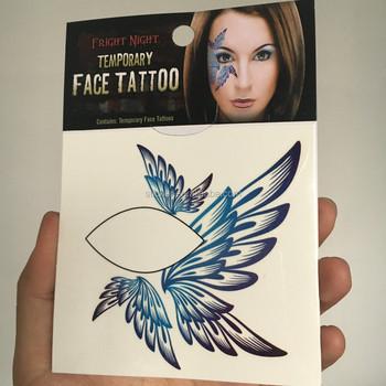 Waterdicht Verwijderbare Body Art Tattoo Voor Gezicht En Eye Tijdelijke 3d Vlinder Tattoo Sticker Buy 3d Vlinder Stickersbody Art Tattoo Voor