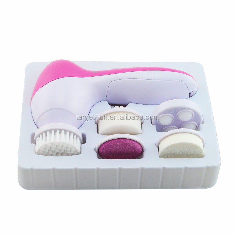 5 in 1 Deep Clean Multifunction Face Beauty Facial Massager with Electric Facial Brush