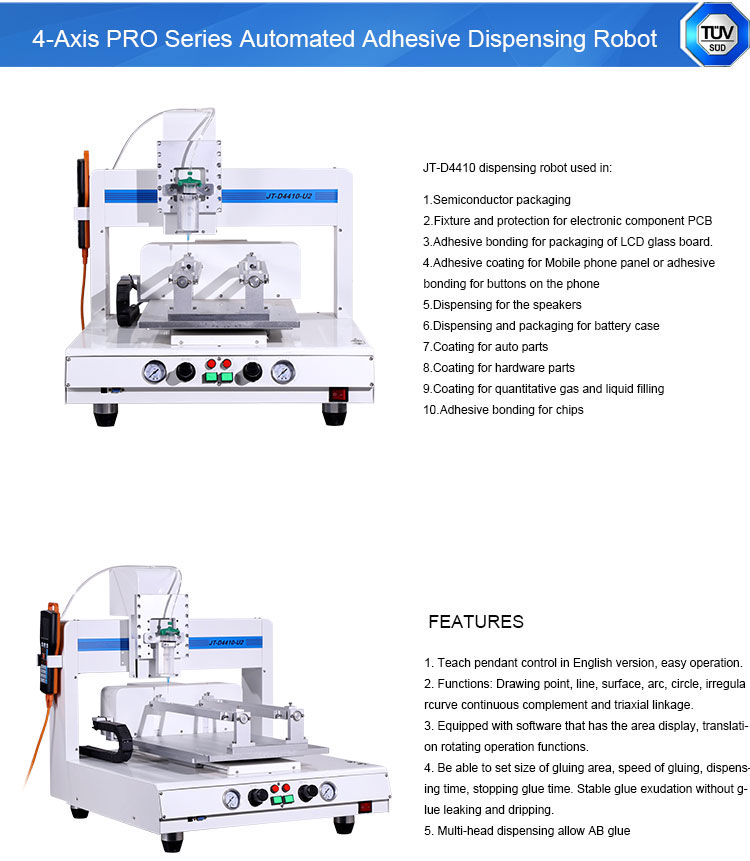 Liquid Silicon Glue Adhesive xyz 3-Axis Automated Dispensing System