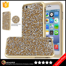Keno Shockproof Dual Layer Luxury Bling Jewel Rock Crystal Rhinestone Diamond Protective Case Cover for iPhone 6S