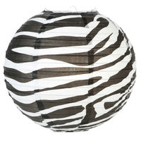 Zebra Print paper Hanging LANTERNS for Party Favors BABY SHOWER