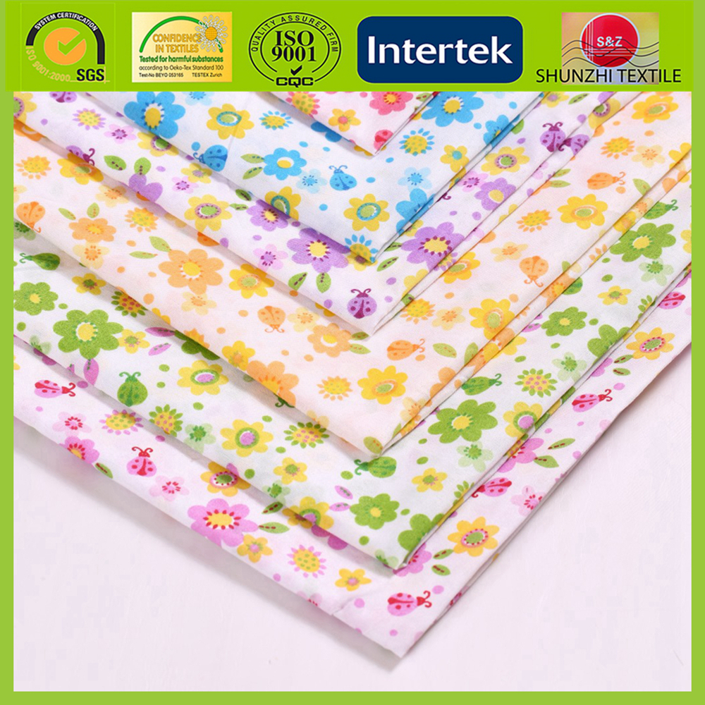 new 100% cotton floral print bedding sheet fabric