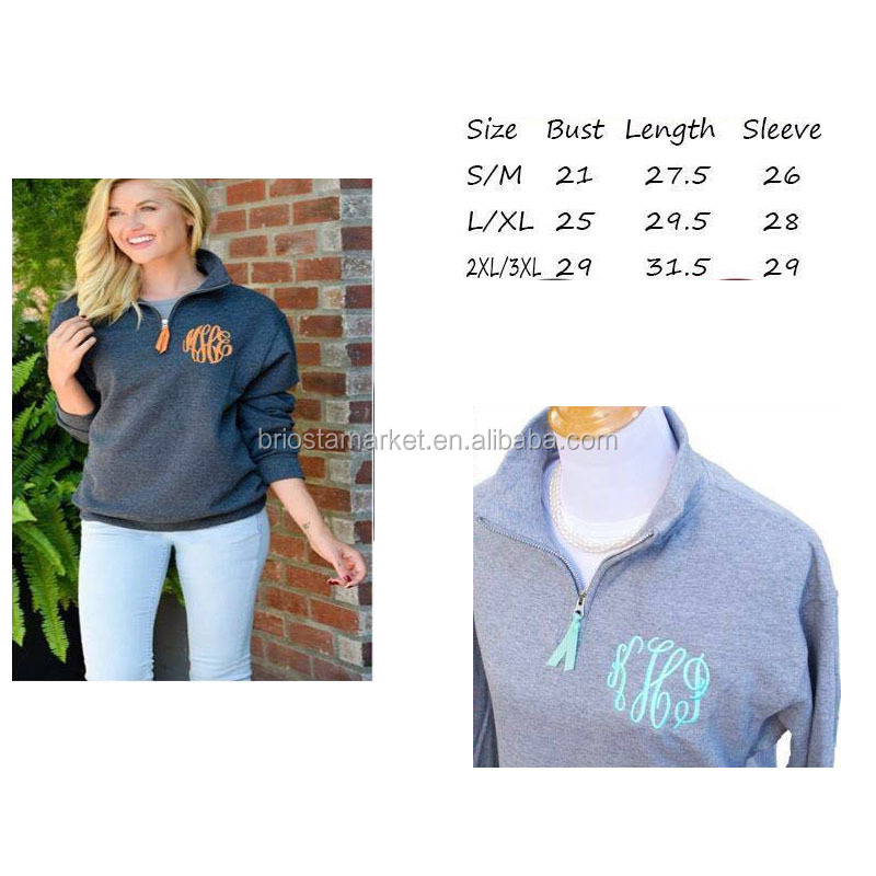 Wholesale Hot Sale Monogrammed Casual Pullover Without Hood For Unisex