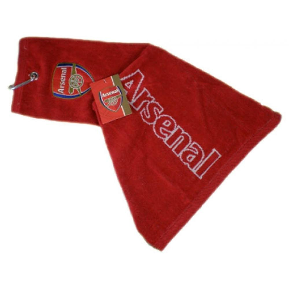 Football Gifts - Arsenal Fc Gift Ideas - Official Arsenal Fc Golf Tri-Fold Towel - A Great Present For Football Fans