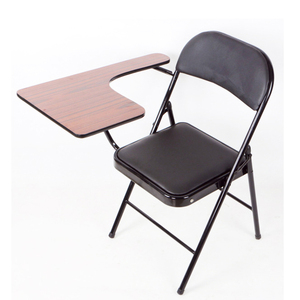 Student metal folding study chairs with writing pad furniture manufacturer