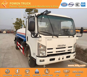 700P Japan technology 12-15m3 190hp stainless steel water tank truck cleaning truck