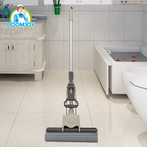 Boomjoy Yiwu iron pole PVA mop good water absorption sponge mop with 27cm sponge for kitchen and bathroom.