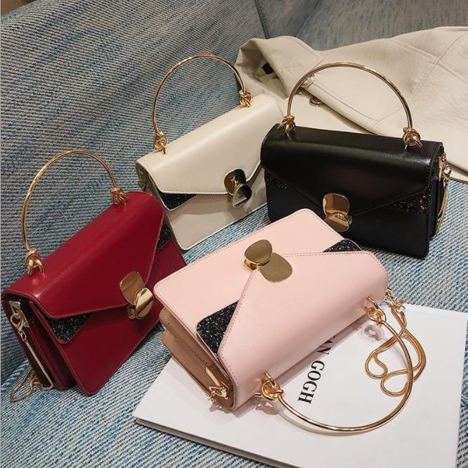a5133456d12b Горячая стиль внешней торговли женская сумка на одно плечо сумка через цепь  маленькая квадратная сумка