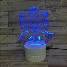 <span class=keywords><strong>Ganesha</strong></span> vorm 3D illusion lamp speaker bed licht