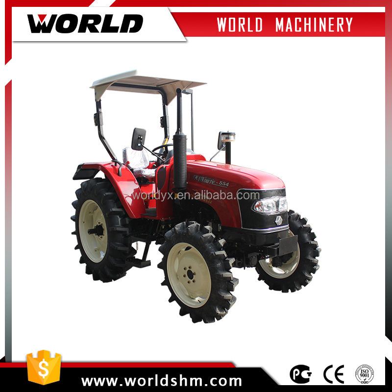 chinese farm equipment 55hp 4wd wheel tractor prices