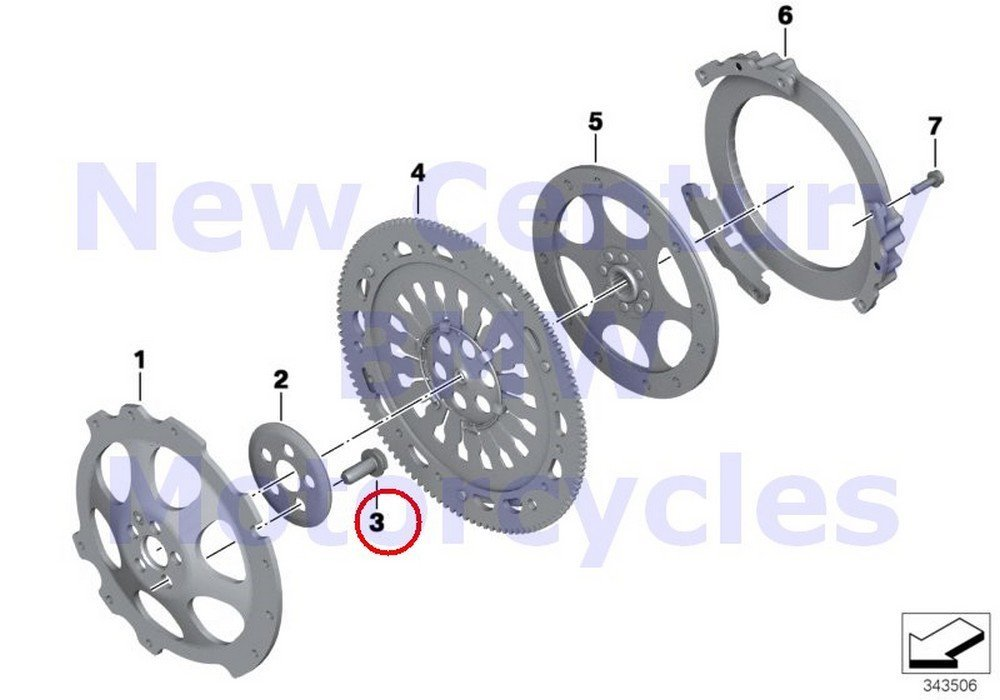 BMW Genuine Motorcycle Clutch - Single Parts Collar Screw M11X1.5X27 R nine T R1200GS R1200GS Adventure HP2 Enduro HP2 Megamoto R1200RT R900RT R1200R R1200ST HP2 Sport R1200S