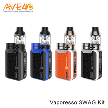 Palm Size Design Electronic Cigarette Kit Aluminum Alloy Shell 80W Output Vaporesso Swag Kit With NRG SE Tank