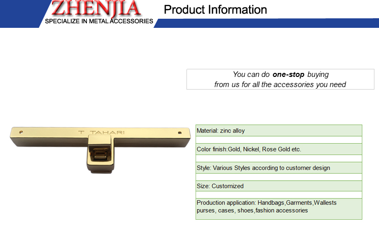 Professional manufacturer handbag twist lock fasteners