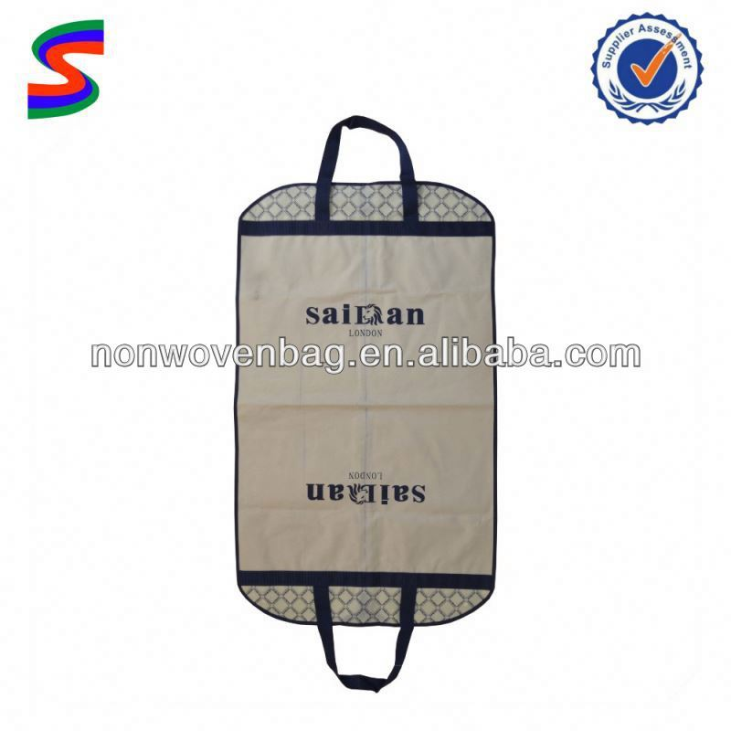 Hot Sale Non woven Suit Cover Bag,Foldable Garment Bag