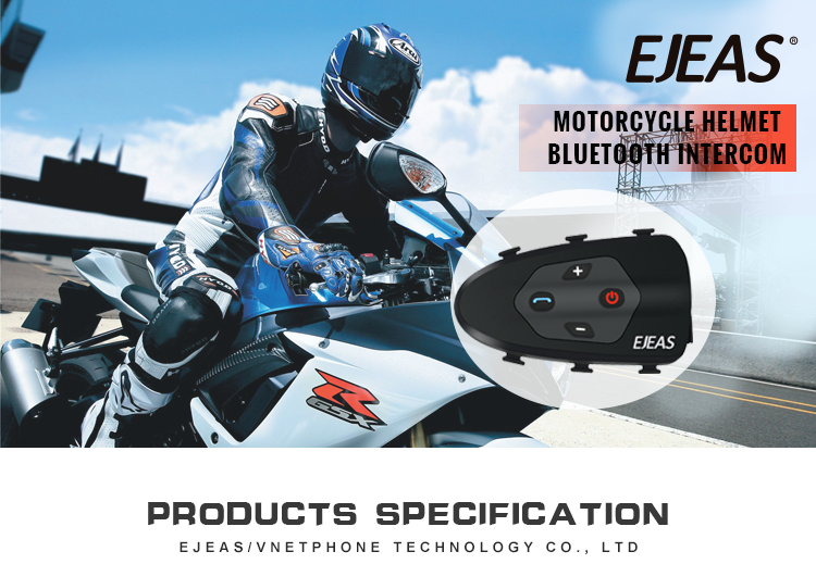 2 Riders Full Duplex Talking 1200M Wireless BT Interphone Motorcycle Helmet Bluetooth