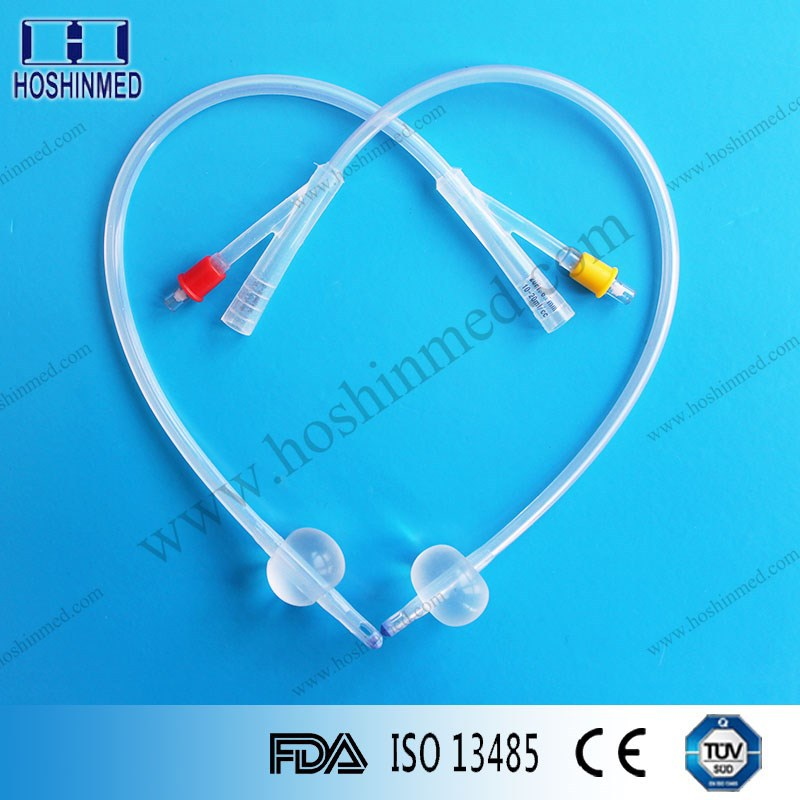 2 way 15cc balloon catheter all silicone Foley's parts