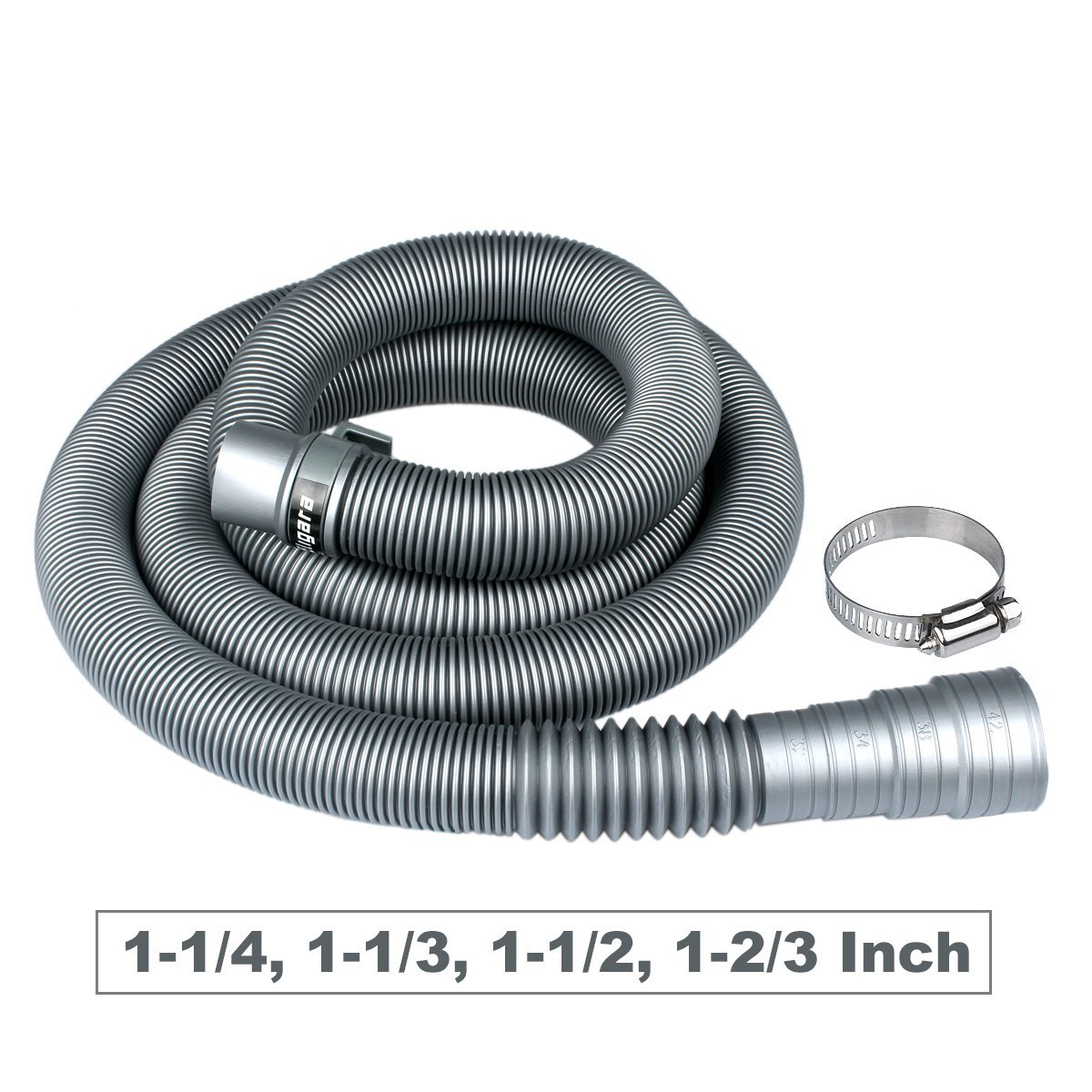 Washing Machine Drain Hose by Eligara | 10 Feet Long Discharge Pipe, Universal Fit All Washer Drain Hose Extension/Replacement Kit (10 Feet)