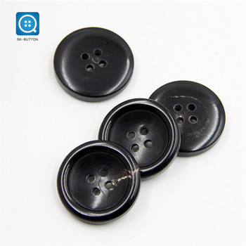 SK real black buffalo horn button for button woman