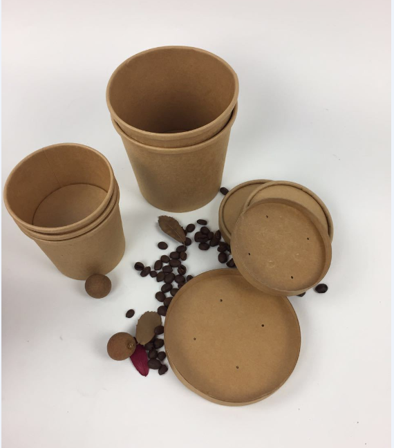7OZ Eco-friendly Disposable Kraft Paper Cup With Low Price