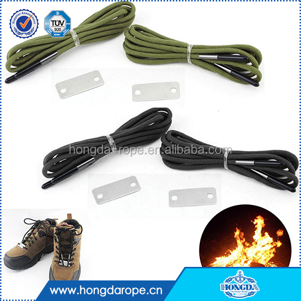 Outdoor Survival Emergency Shoelace Fire Starter Scrapper 550 Paracord Laces kit for sales