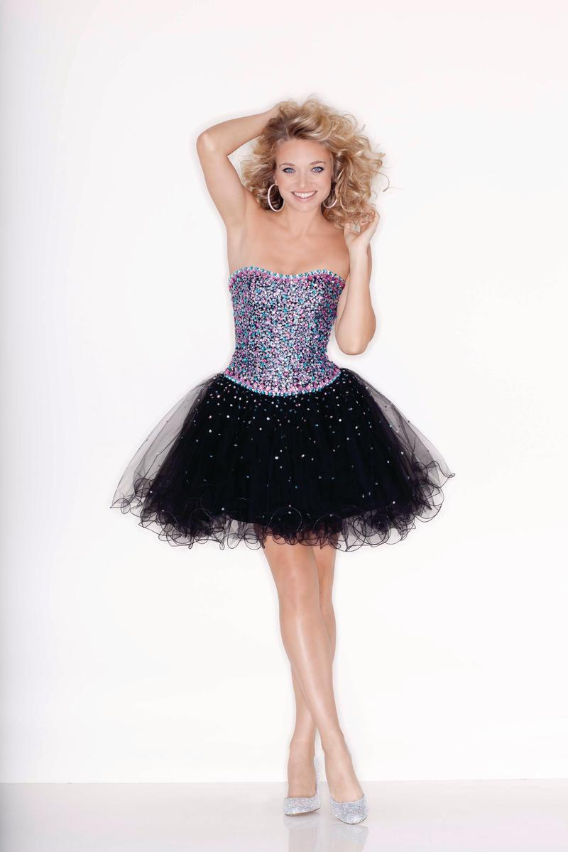 Custom Made Black Homecoming Dress Tull Skirt Sweetheart Beaded Sequin Short Puffy Prom Dress
