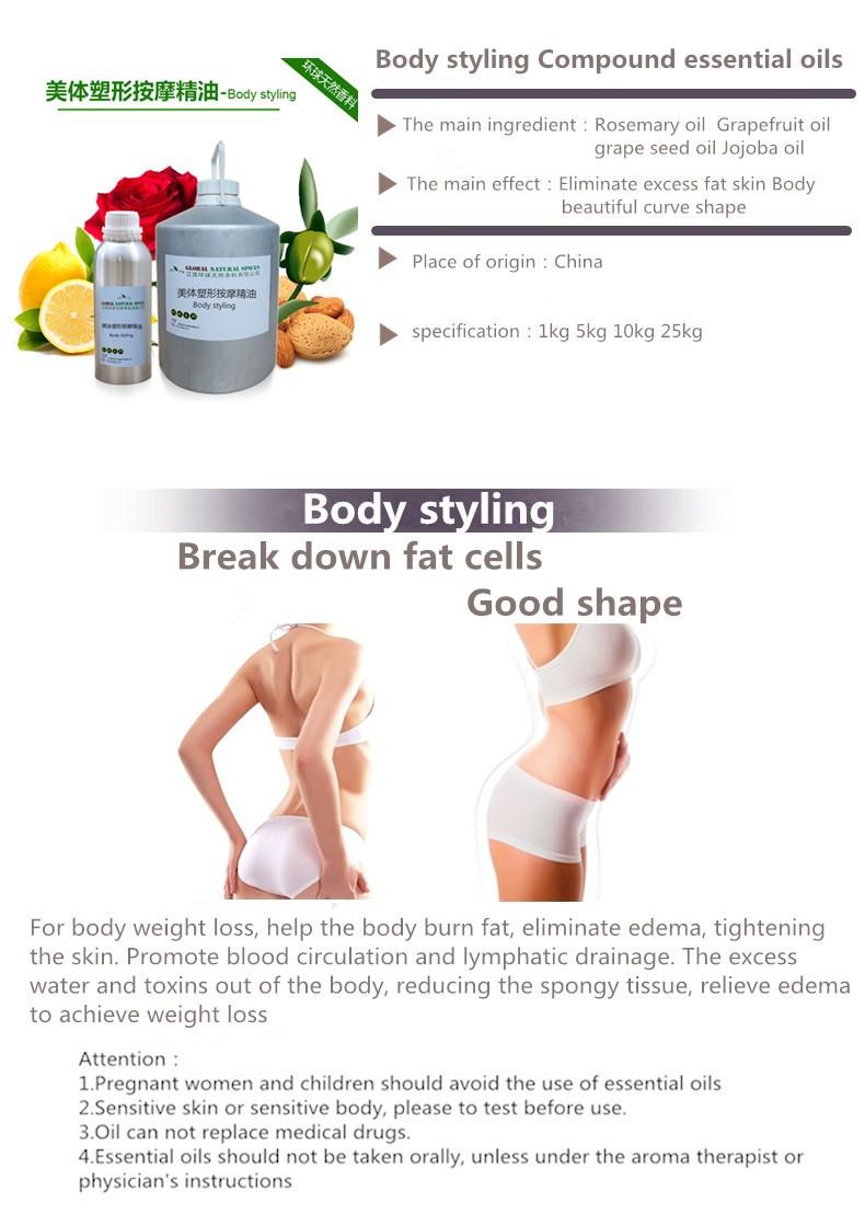 Huile de massage pour perdre du poids, huile essentielle minceur