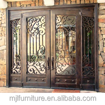 Gangdong Factory Directly Sale customized Size Security Design Iron Steel Door