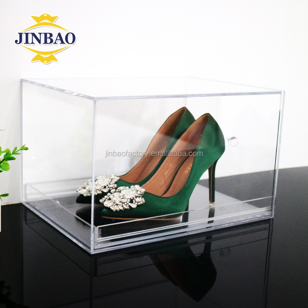 JINBAO Schuhe aus Acryl in modernem Design mit Display-Box