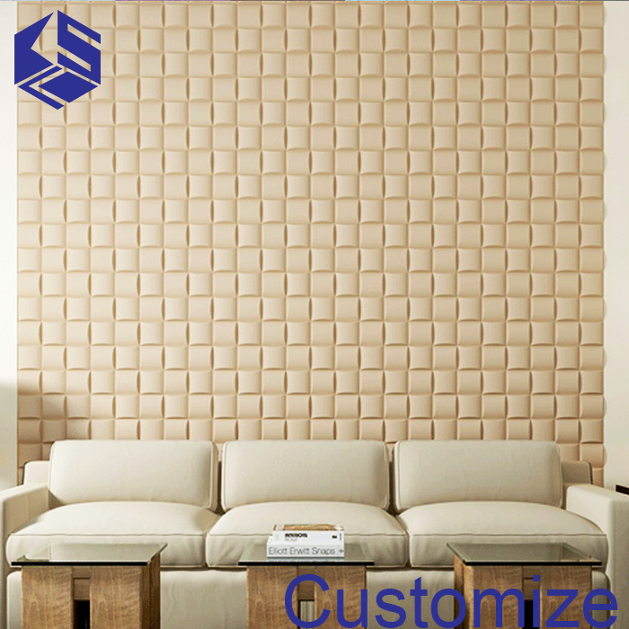 Wholesale house wall paneling 3d effect mosaic leather acoustic wall panel