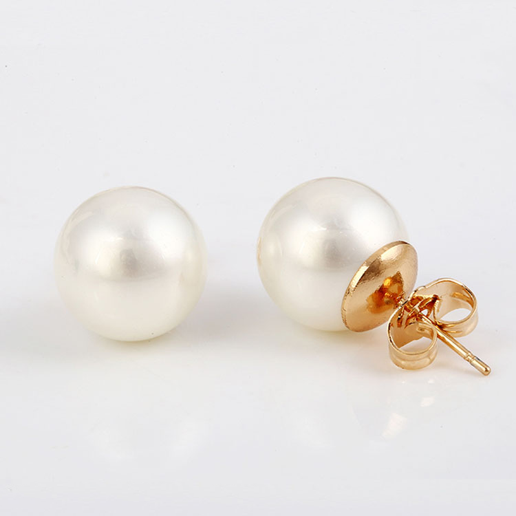 27762 Fashion jewelry elegant copper alloy earring, girls' simple pearl earring фото