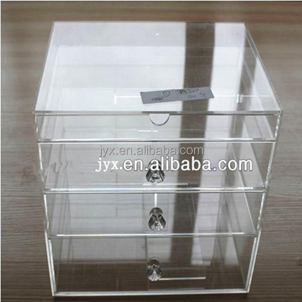 plexiglas acrylique rectangle bo te maquillage acrylique. Black Bedroom Furniture Sets. Home Design Ideas