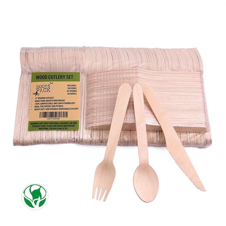 Disposables Spoon Fork Knife Set,Wooden Tableware/utsenils/cutlery - Buy  Disposable Cutlery Set,Wooden Tableware,Diy Wooden Utsenil Product on