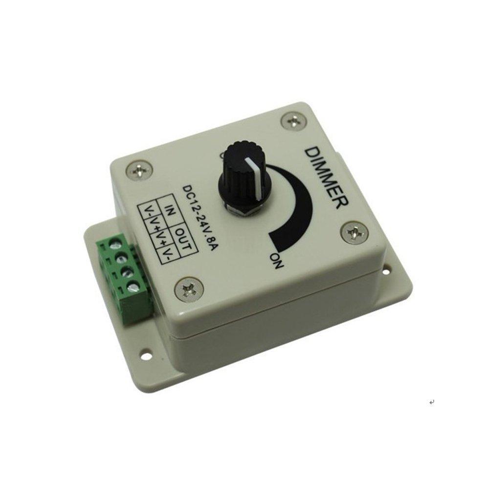 Bonlux Dc12-24v LED Dimmer Knob-operated Control LED Dimmer Switch PWM 12v 24v LED Dimmer for LED Strip Light