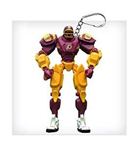 "Washington Redskins 3"" Team Cleatus FOX Robot NFL Football Key Chain Version 2.0"