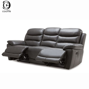Berk line Black Leather Turkey Recliner Sofa