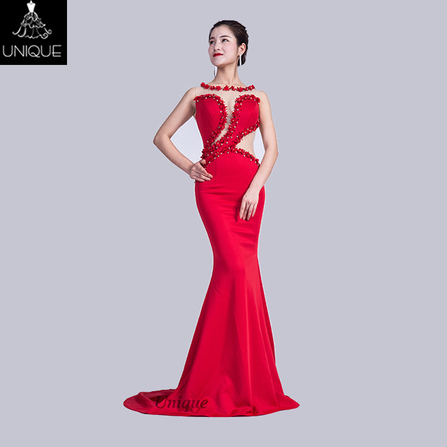 fashionable Mermaid sexy designs evening prom gowns sweet heart beading neck for party formal meeting evening dress women
