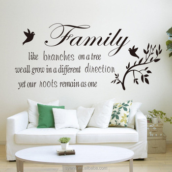 3d large round wall decor wall stickers home decor art vinyl quotes