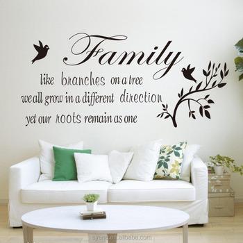3d Grote Ronde Muur Decor Muurstickers Home Decor Art Vinyl Citaten ...