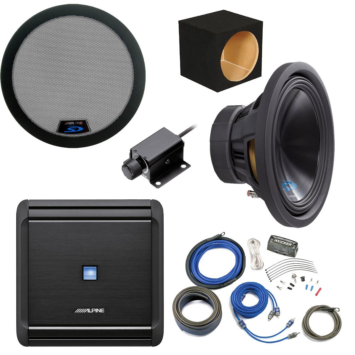 Cheap Subwoofer Bass Knob Find Deals On Line At Box Wiring Kit Get Quotations Alpine Package Type S 12 W Mrv