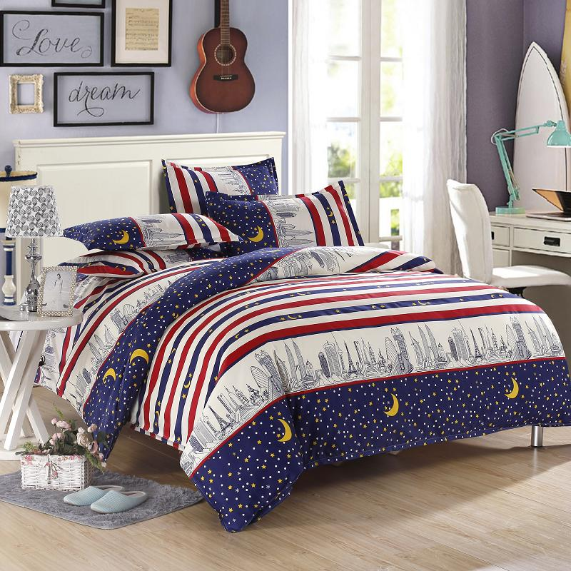 Bedroom Lighting Walmart Red And Blue Bedroom Teenage Bedroom Accessories Very Tiny Bedroom Design Ideas: High Quality City Light Bedding Blue And Red Striped