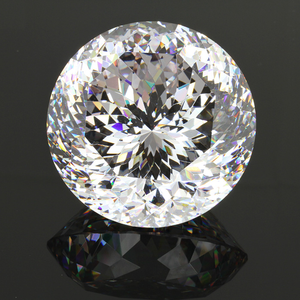 Over than 100 facets 50mm big size round diamond cut Cubic Zirconia stones for exhibition