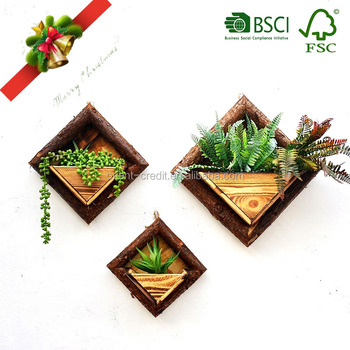 Oem Wall Wooden Planter Box Hanging Flower Pot Chinese Manufacturer