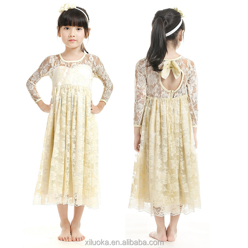 Baby girl wedding lace party clothes one piece dress daily wear
