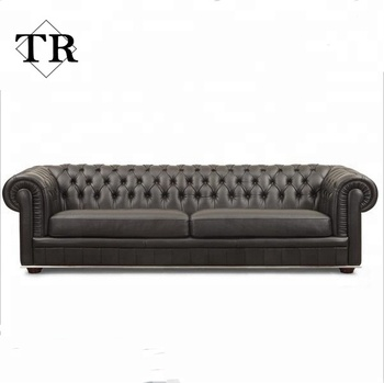 luxury home furniture chesterfield 3 2 1 leather sofa, View ...