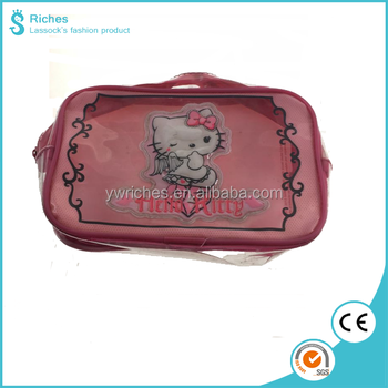 e809ee5d50 Yiwu Riches PVC Wholesale Promotional Hello Kitty Waterproof Coin Purse  Cosmetic  bag for Kids