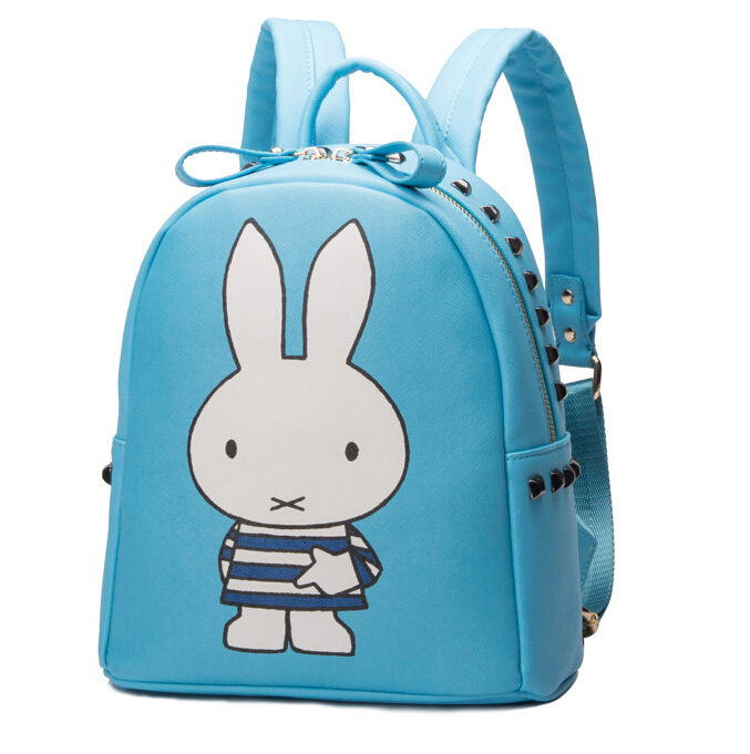 2015 Hot Sale High Quality PU cartoon Backpack Women  Canvas Backpacks Boy Girl School Bags For Teenager Travel Women Bags