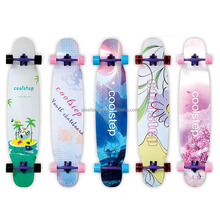 OEM longboard decks skateboard deck Canadian maple, bamboo, fiberglass, carbon fiber are all available, with genuine epoxy glue