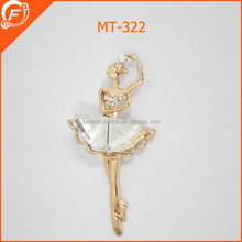 fashion dancer shaped pearl brooches for wedding dress